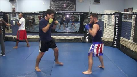 [11-25-13] 10AM Kickboxing Class with Coach Jason Slipping Drill