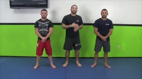 Elbow Post to Single Leg to Body Lock
