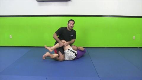 Knee On Belly Heel Hook Against Half Guard