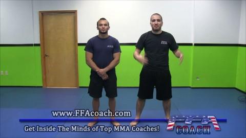 Muay Thai Combination #1 Check, Push Out, Rear Body Kick, Rear Knee