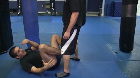 Leg Lock Sweep versus Standing Opponent