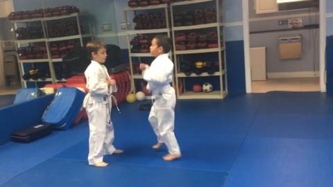 Kids MMA takedown/ground and pound