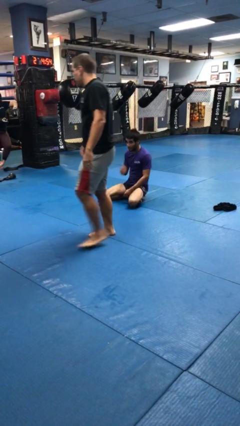 Carlos Espinoza getting promote it to purple belt