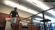 Hip level explosive jump