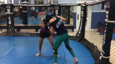 Close range boxing drill