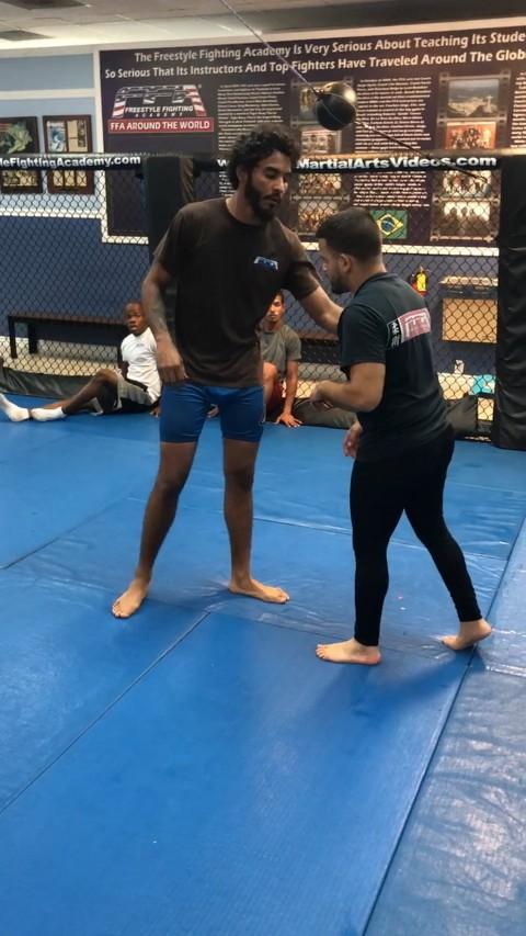 Wrestling sweep off single leg