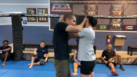 Muay Thai Clinch Push Face Counter